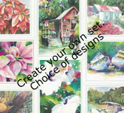 Create Your Own Set of Margaret Rodriguez Watercolour Cards