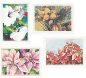 4 Margaret Rodriguez Watercolour Print Cards