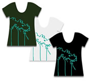 Winkbox Barbados Womens Palm T-Shirt