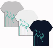 Winkbox Barbados Mens Palm T-Shirt
