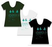 Winkbox Barbados Surfers Womens T-Shirt