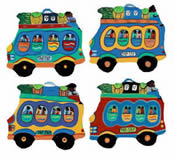 Set of 4 Tap Tap Bus Coasters