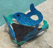 Cut Metal Fish Dish 1
