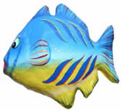 Fish Paper Mache Wall Hanging 14 Inch Fish 1