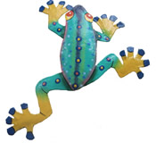 Funky Climbing Frog Wall Hanging 8 Inch Frog 17