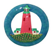 Lighthouse Wall Hanging 12 Inch