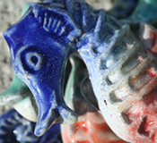 Barbados Red Clay Pottery Seahorse - Choice of Colors