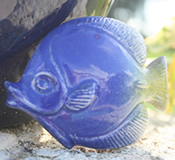 Barbados Red Clay Pottery Blue Tang Fish