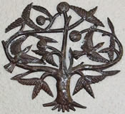 L'arbre de vie (Tree of Life) Recycled Metals Wall Hanging