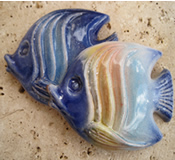Barbados Red Clay Pottery Angel Fish - Choice of Colors