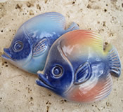 Barbados Red Clay Pottery Butterfish - Choice of Colors