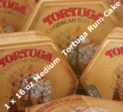 Single 16oz Medium Tortuga Rum Cake - Choice of Flavours