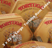Three 33oz Large Tortuga Rum Cakes - Choice of Flavours