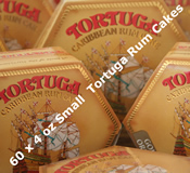 Sixty 4oz Small Tortuga Rum Cakes - Choice of Flavours