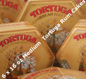 Six 16oz Medium Tortuga Rum Cakes - Choice of Flavours