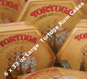 Six 33oz LargeTortuga Rum Cakes - Choice of Flavours