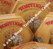 Six 4oz Small Tortuga Rum Cakes - Choice of Flavours
