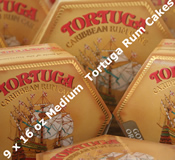 Nine 16oz Medium Tortuga Rum Cakes - Choice of Flavours